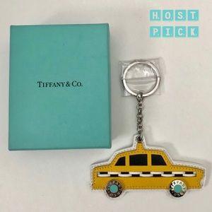 🔺Final🔺🌟HP🌟NIB 💯Tiffany Leather Taxi Key Ring